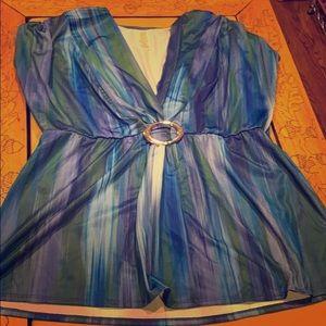 Tunic sleeveless women's blouse XL